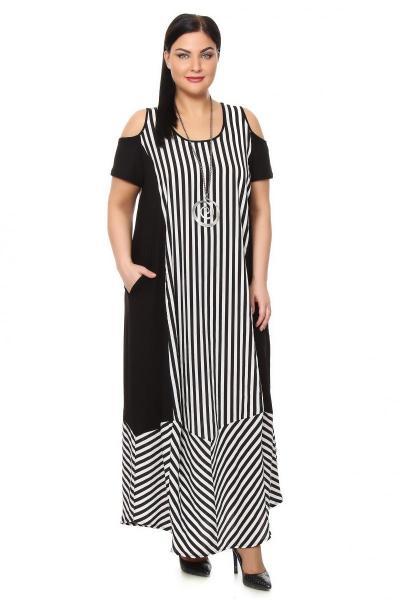 Платья черно белые доставка