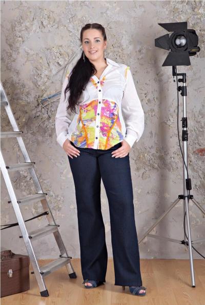 Белая блузка большой размер купить