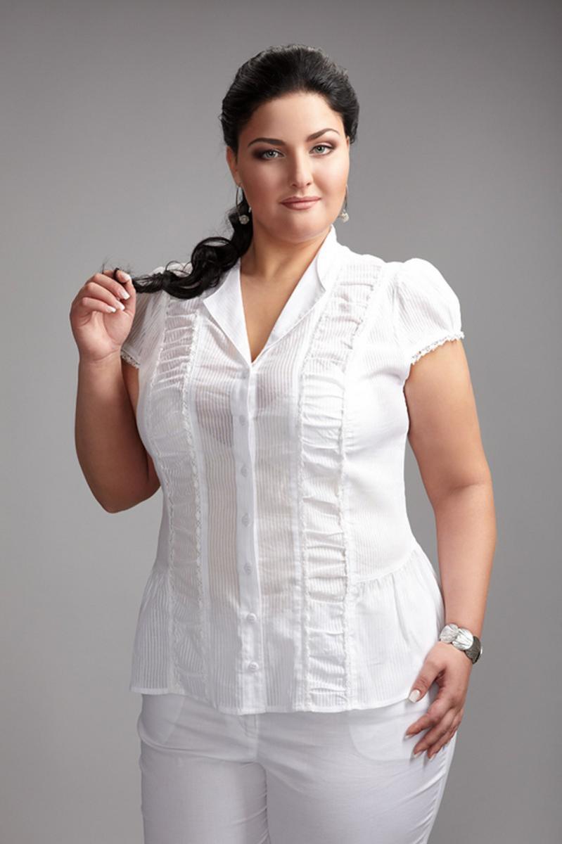 Блузка белая 52 размер купить в