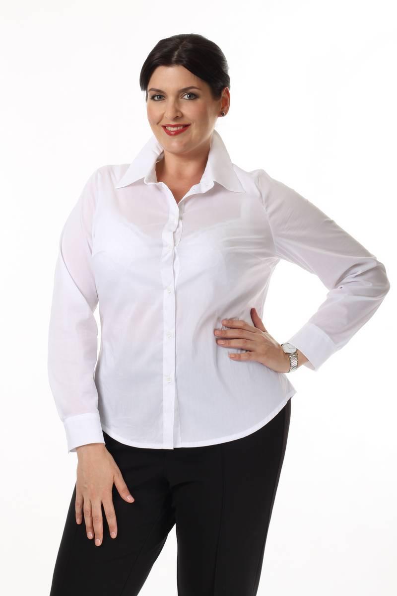 Блузка Белая Большого Размера