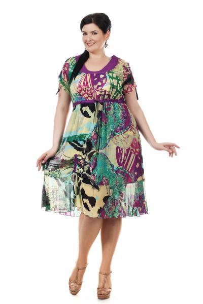 Летнее платье большого размера доставка