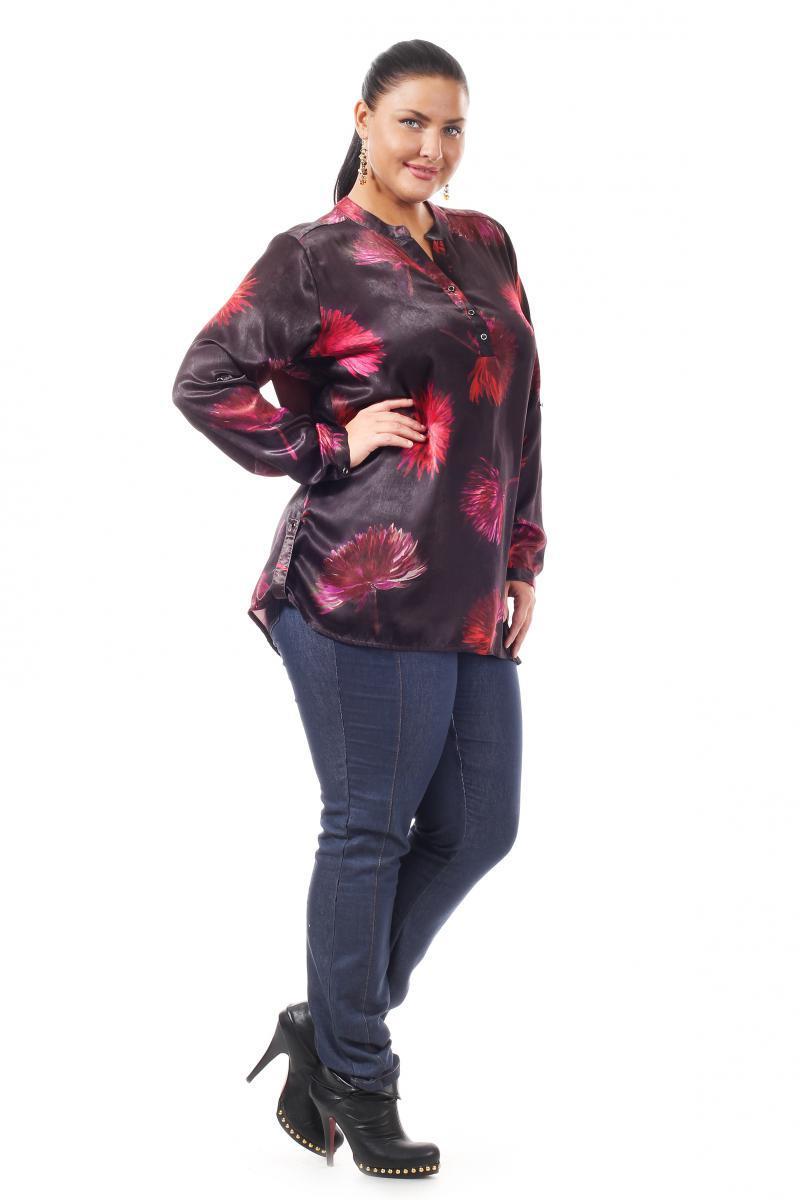 Черная блузка с цветами доставка