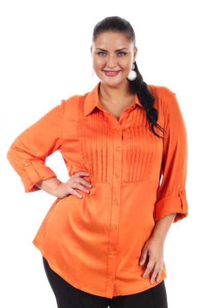 569c232ead0 Блузка Оранжевая большого размера - артикул 15212 (Оранжевый)