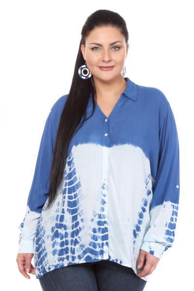 Блузка синего цвета с доставкой