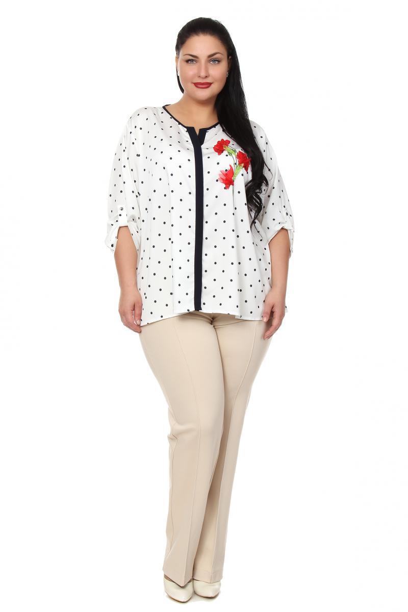 Купить белую блузку большого размера
