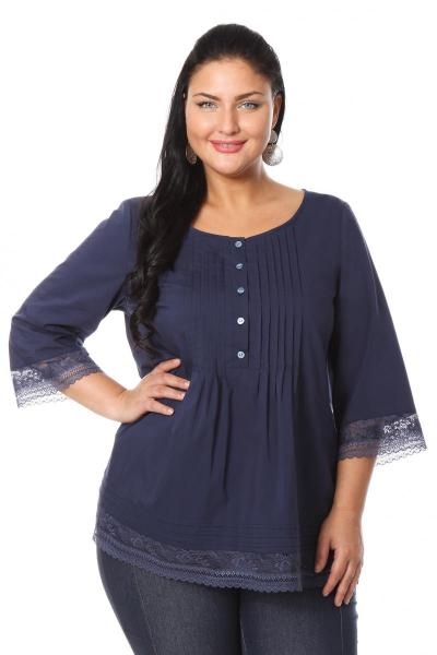 Всё для модниц! — Блузка индиго доставка e24f47b7b97