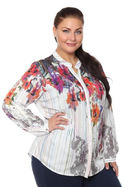 Белая блузка больших размеров с доставкой