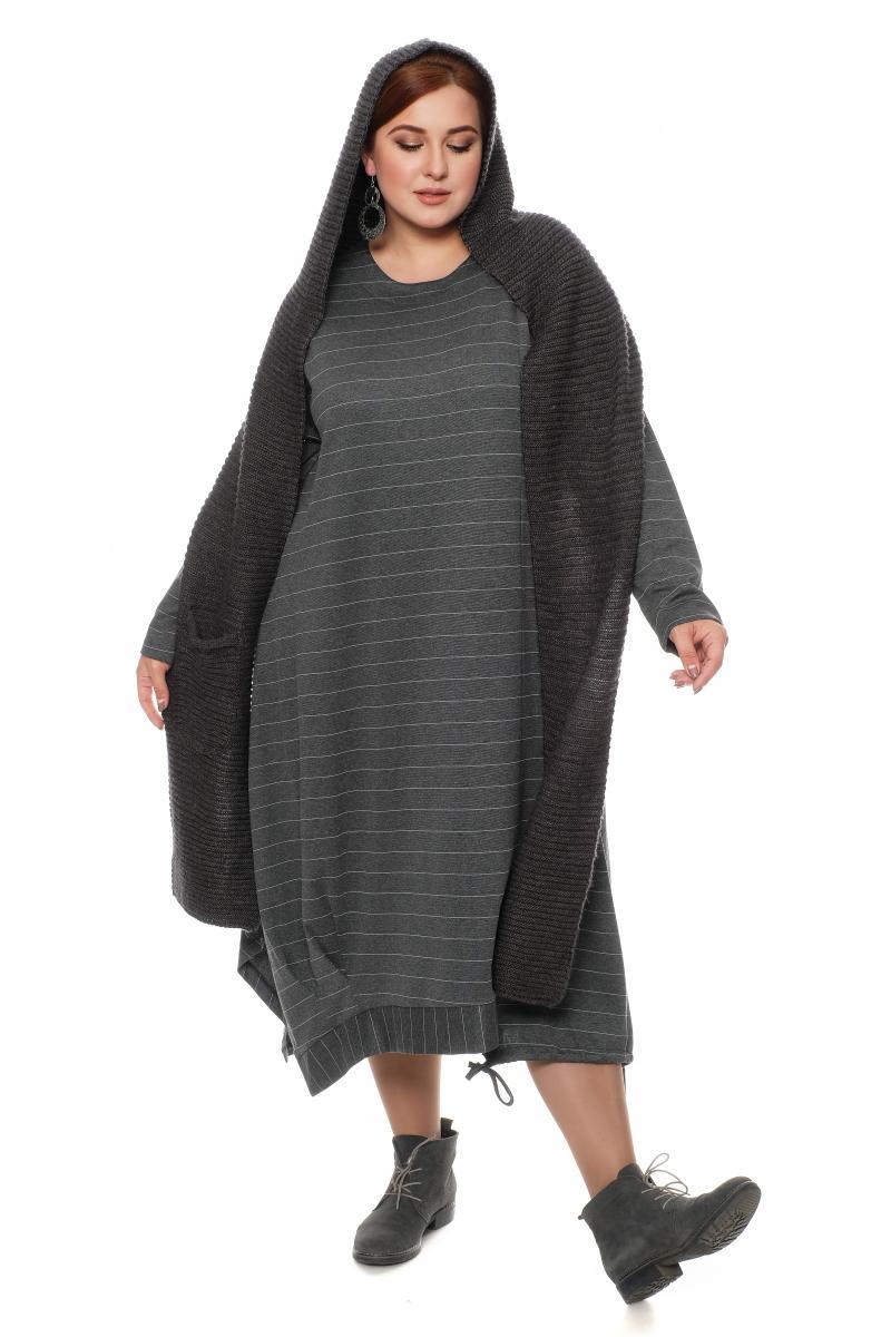 платье с шарфом