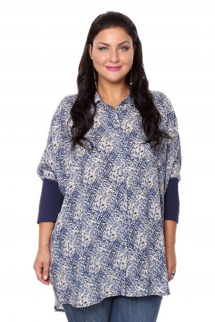 Артикул 16272 - блузка  большого размера