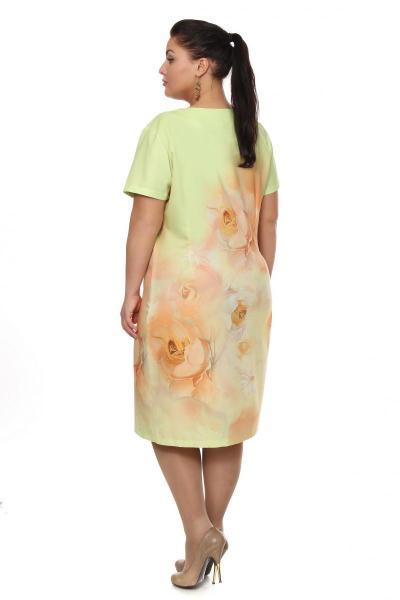 Артикул 102688 - платье большого размера - вид сзади