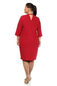 Артикул 105641 - платье большого размера - вид сзади