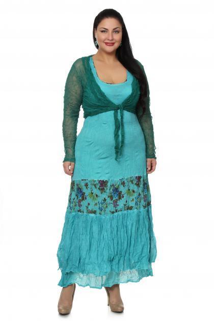 Артикул 100051 - платье  + болеро большого размера