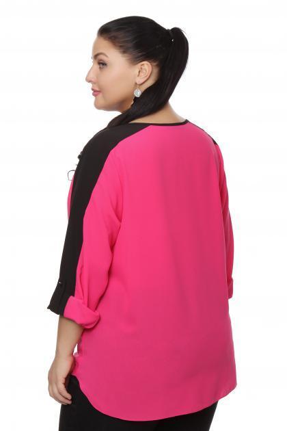Артикул 15246 - блузка  большого размера - вид сзади