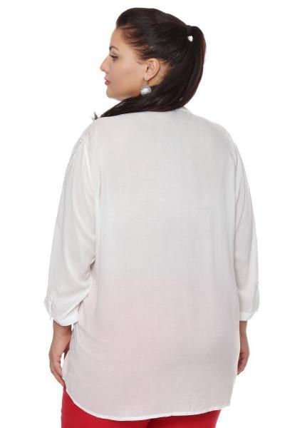 Артикул 103379 - блузка большого размера - вид сзади