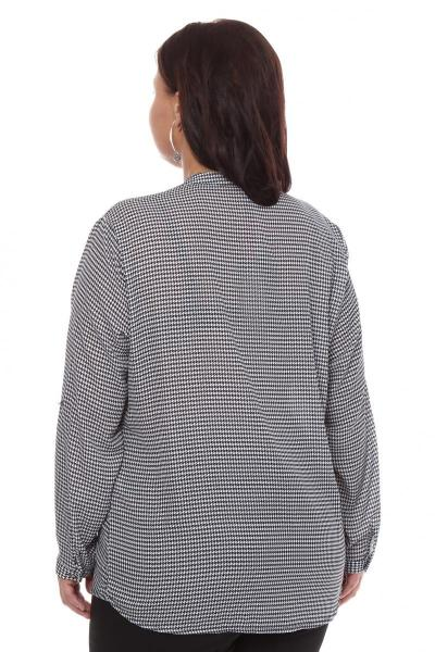 Артикул 108504 - блузка  большого размера - вид сзади