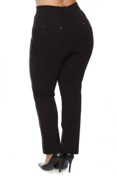 Артикул 202776 - брюки большого размера - вид сзади