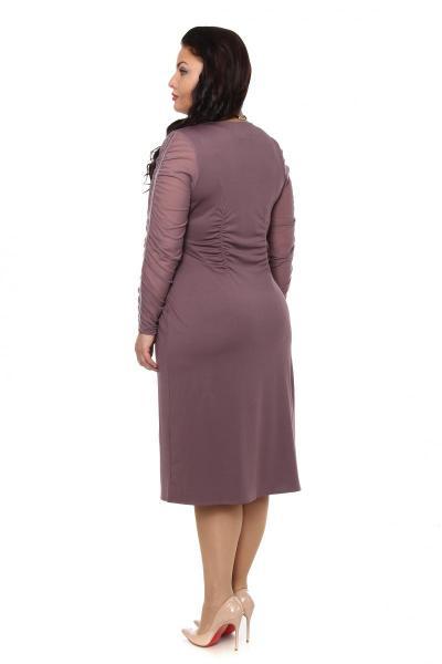 Артикул 12335 - платье большого размера - вид сзади