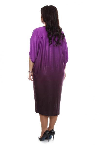 Артикул 16323 - платье  большого размера - вид сзади