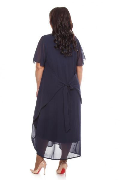 Артикул 105603 - платье  большого размера - вид сзади