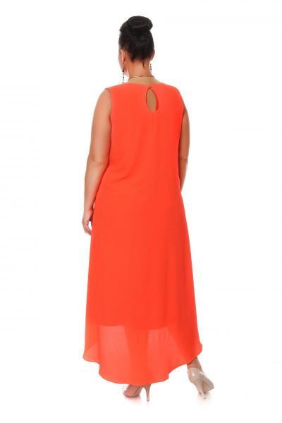 Артикул 16359 - платье большого размера - вид сзади