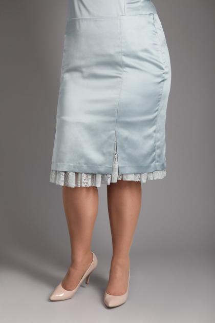 Артикул 12342 - юбка большого размера - вид сзади
