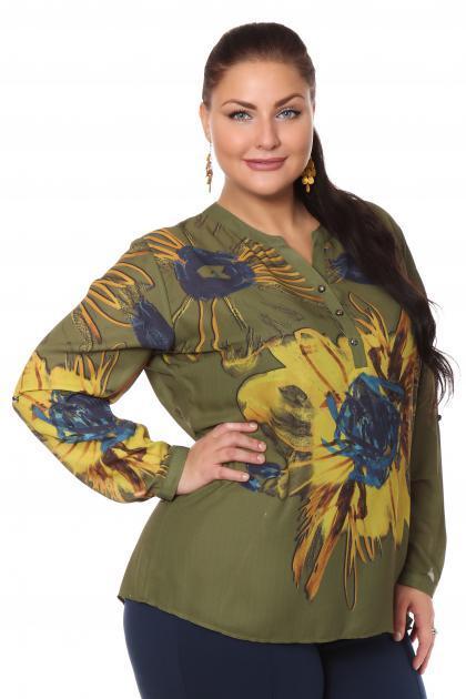 Артикул 108486 - блузка  большого размера