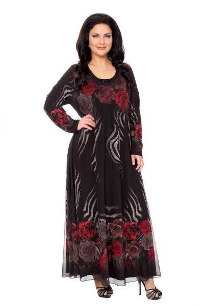 Артикул 266019 - платье  большого размера
