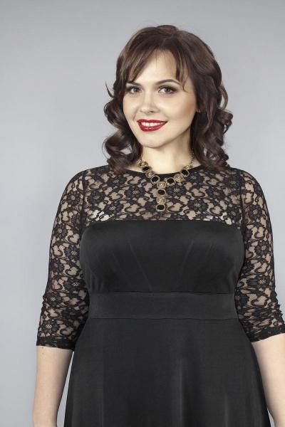 Артикул 13377 - платье большого размера - вид сзади