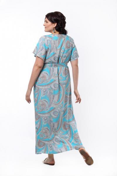 Артикул 13383 - платье большого размера - вид сзади
