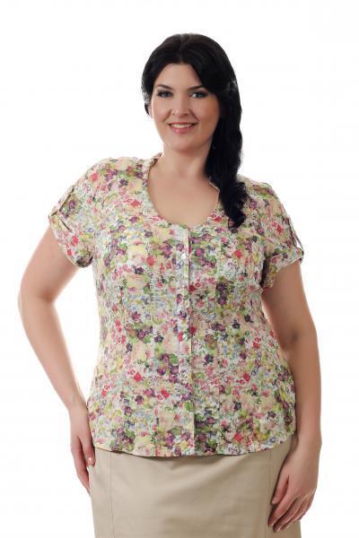 Артикул 14291 - блузка большого размера