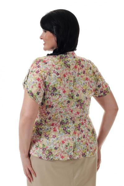 Артикул 14291 - блузка большого размера - вид сзади