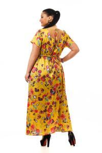 Артикул 14393 - платье  большого размера - вид сзади