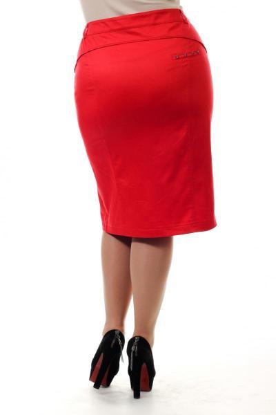 Артикул 14491 - юбка большого размера - вид сзади