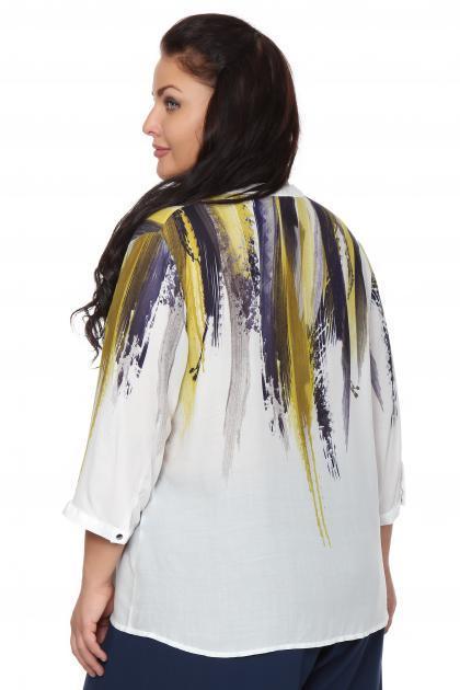 Артикул 107520 - блузка большого размера - вид сзади