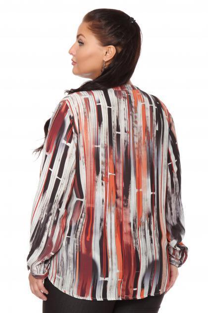 Артикул 108464 - блузка  большого размера - вид сзади