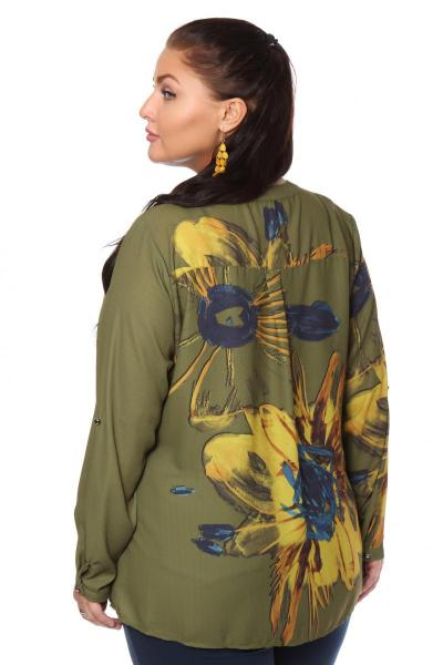 Артикул 108486 - блузка  большого размера - вид сзади