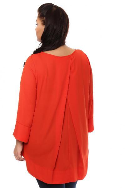 Артикул 105314 - блузка  большого размера - вид сзади