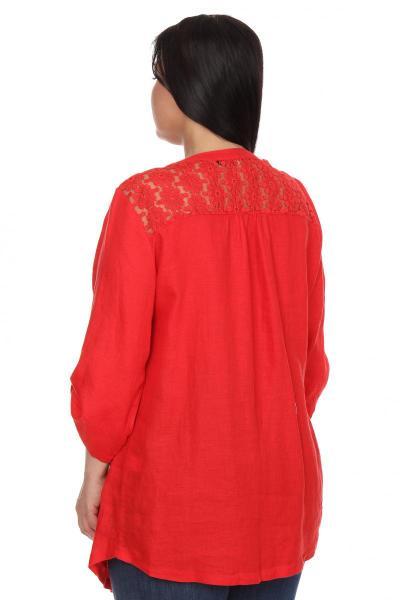 Артикул 206310 - блузка  большого размера - вид сзади