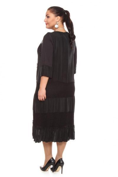 Артикул 101116 - платье большого размера - вид сзади