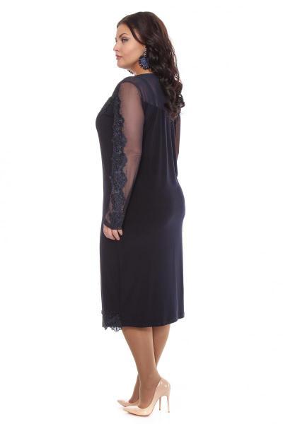 Артикул 109280 - платье  большого размера - вид сзади