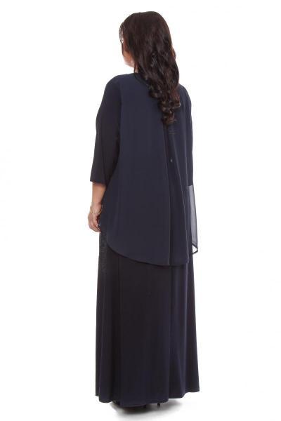 Артикул 109275 - платье  большого размера - вид сзади