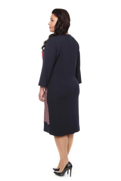 Артикул 105513 - платье большого размера - вид сзади