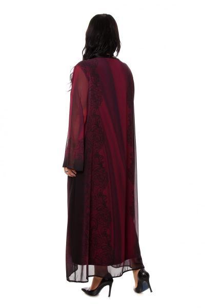 Артикул 266004 - платье  большого размера - вид сзади