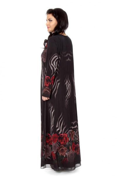 Артикул 266019 - платье  большого размера - вид сзади