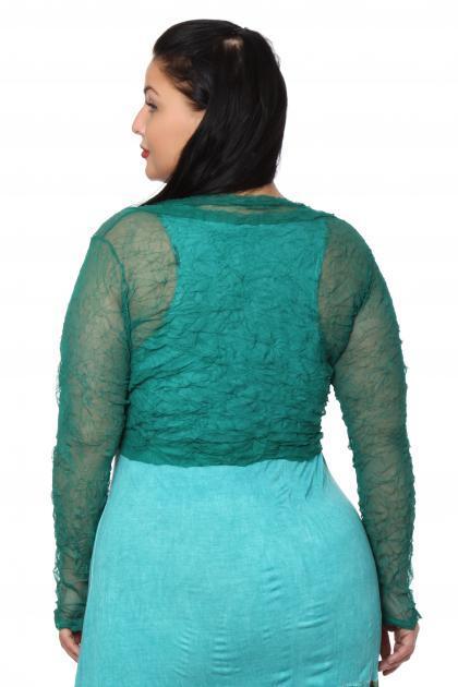 Артикул 100051 - платье  + болеро большого размера - вид сзади