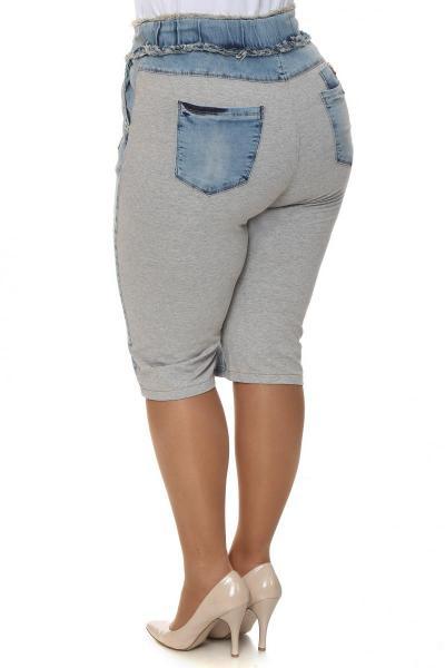 Артикул 204036 - шорты большого размера - вид сзади