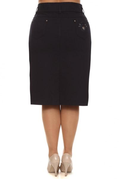 Артикул 258008 - юбка большого размера - вид сзади