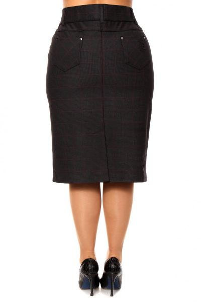 Артикул 201620 - юбка большого размера - вид сзади