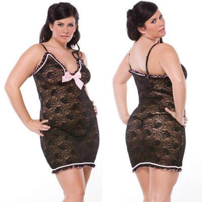 Артикул 1687 - сорочка эротическая большого размера