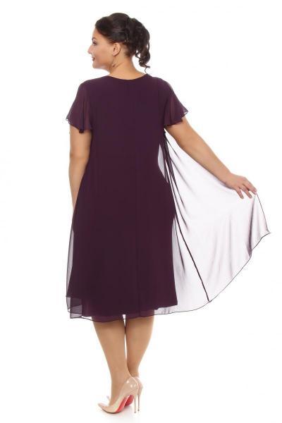 Артикул 108111 - платье  большого размера - вид сзади